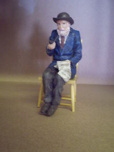 Dolls house figure,1/12th scale poly/resin Grandad