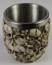 Halloween Skulls Cup 6 Ounce SS Goblet Tankard Mug Human Skeleton Gothic Horror