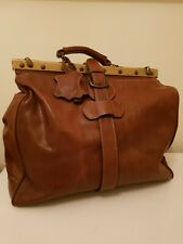 Vintage Large Leather ANTLER Gladstone Bag