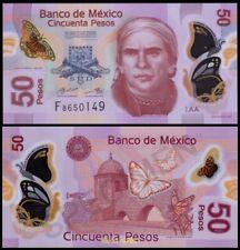Mexico 50 Pesos (2017), Serie AA, Sign.8:Carrillo-Rabiela, Polymer, UNC