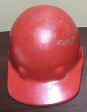 Hard Hat / Helmet ~ Hard Plastic Construction ~ Fibre-Metal ~ North ~ PA ~ Red