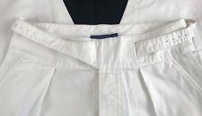 BNWT Polo Ralph Lauren Ladies Cotton Twill Wide Leg Belted Pants. Deckwash White
