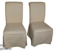 Elegant Upholstered Fairfield Rolling Dining Accent Chairs Very Comfortable