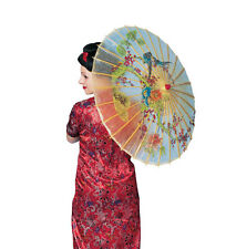 Handpainted Oriental Parasol Costume Accessory