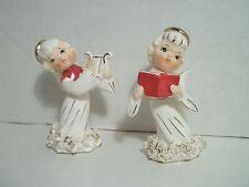 Vintage Spaghetti Angel Figurine Christmas Candle Holder