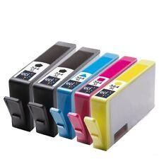 5x tintas NonOem para HP 364XL Officejet 4610 4620 Deskjet 3070 A 3520 3522 3524