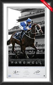 Winx Farewell Dual Signed L/E Official Retirement Print Framed Waller Bowman