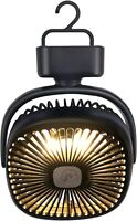 Tent Fan with Camping Lantern, Rechargeable 5000mAh Battery Operated Portable