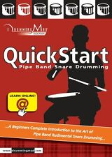 Drumming Mad Quick Start Beginners Book learn basic bagpipe drums by Dean Hall