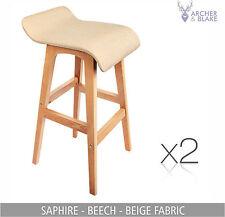 2 kitchen leather chair stool dining set black white timber bar NEW OAK barstool