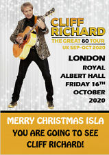Cliff Richard 2020 Ticket Card The Great 80 Tour Christmas A5 Personalised