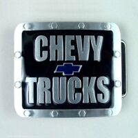 Chevrolet CHEVY TRUCKS Logo Belt Buckle all metal Enamel Blue - Black FREE SHIP