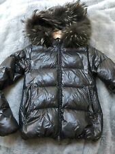 DUVETICA  Adhara Jacket with Racoon Fur Black Color Size 38 IT 0 US
