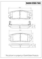 Disc Brake Pad Set-CERAMIC PADS Rear Dash 4 Brake CD580