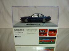 MINICHAMPS BMW 635 M CSi - BLUE METALLIC 1:43 RARE - EXCELLENT IN BOX