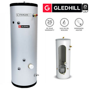 Gledhill ES 250L Indirect Unvented Hot Water Cylinder Stainless Steel