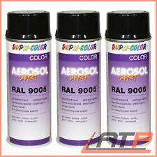 3x 400ml DUPLI COLOR AEROSOL ART RAL 9005 SCHWARZ GLANZ LACKSPRAY SPRÜH LACK