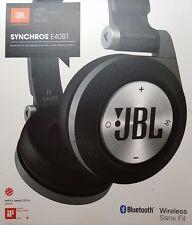 New in Box JBL Black SYNCHROS E40BT Wireless Bluetooth On-Ear Stereo Headphones