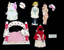 Watercolor Paper Doll - Little Red Riding Hood, Grandma, Wolf & Woodsman