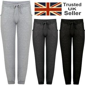 Womens Fleece Slim Fit Tracksuit Bottoms Skinny Jogging Joggers Ladies Trousers
