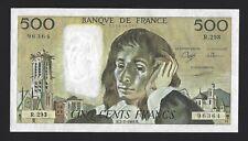 1989 FRANCE 500 Francs P-156g Scarce Date Highest Denomination Pack Fresh UNC