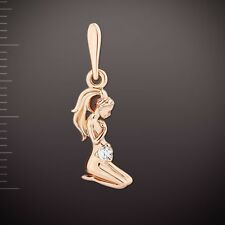 Russian solid rose gold 585 /14k VIRGO ZODIAC PENDANT CHARM NWT Very Beautiful !