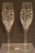 2 Vintage Waterford Crystal Champagne Wedding Flutes. Nr