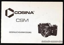 Kamera Bedienungsanleitung COSINA CSM User Manual Anleitung (X2739