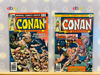 Conan the Barbarian Lot #63 & 64 VG+ to Fine Bronze Age Marvel Comics