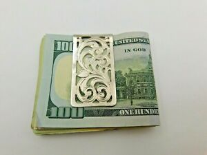 Montana Silversmiths Silver Plated Money Clip with a Pierced Design