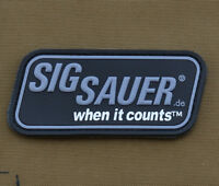 "PVC / Rubber Patch ""Sig Sauer"" with VELCRO® brand hook"