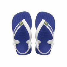 Havaianas Baby Brazil Logo Flip Flops Marine Blue/White