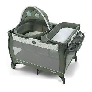 Graco Baby Pack 'n Play Travel Dome Bassinet Playard Sleep Oskar NEW