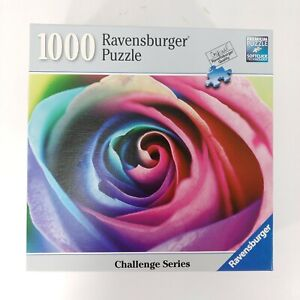 Ravensburger Jigsaw Puzzle 1000 Pieces Challenge Series 80367 Rainbow Rose 2017