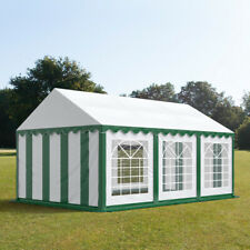 Marquee 4x6m green white PVC 500g/m² party tent waterproof easy to assemble