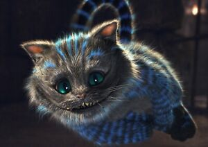 Alice In Wonderland Cheshire Cat Poster Print A6 A5 A4 A3 A2 A1 A0