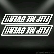 Flip me over decal, sticker, kayak, canoe, jeep, offroad, Cool!!