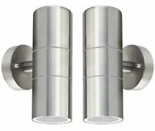 2 x Stainless Steel Up Down Wall Light Dual Head Led Outdoor Sconce Fixtures Us