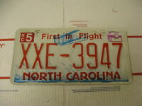 2009 09 North Carolina NC License Plate XXE3947 First in Flight