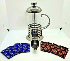French Press Coffee Maker 20oz Stainless Steel Mirror Finish with Measurer Spoon