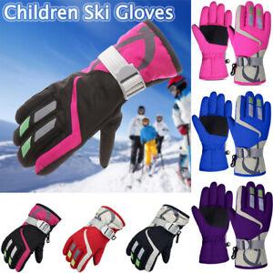 Winter Waterproof Warm Kids Boys Girls Gloves Ski Children Mittens Snow Outdoor*