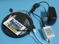 3528 5M RGB 300 LED Flexible Light Strip Lamp+24 Key IR 12V 2A US Power Supply