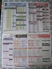 DERBY COUNTY FC  Betting Coupons 2007 to 2015 x 5