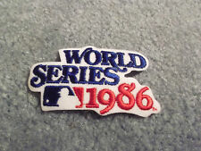 MLB 1986 WORLD SERIES 3 1/2 INCH IRON ON PATCH RED SOX VS METS