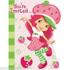 STRAWBERRY SHORTCAKE PARTY SUPPLIES INVITE INVITATIONS PACK OF 8