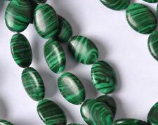 FREE SHIP 10Pcs Green Malachite Gemstone Oval Beads 18MM F126
