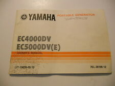Yamaha Owners Manual Portable Generator EC4000DV EC5000DV LIT-19626-00-10
