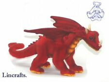 Medium Red Dragon Plush Soft Toy Mythical Creature by Hansa from Lincrafts 5937