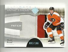 2011-12 Upper Deck Ultimate Collection Debut Threads Patch MATT READ #91/100