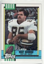 HOBY BRENNER NEW ORLEANS SAINTS 1990 TOPPS #234 USC UNIVERSITY AUTOGRAPHED CARD